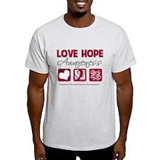 Throat Cancer Love Hope T-Shirt