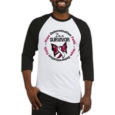 Throat Cancer I'm A Survivor Baseball Jersey