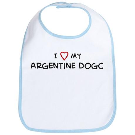 I Love Argentine Dogo Bib