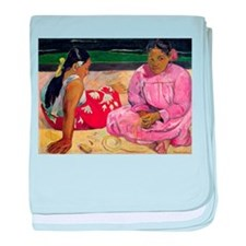 Funny Post impressionist baby blanket