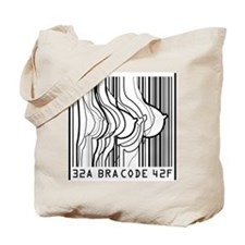 Bar Code Bra Code Tote Bag