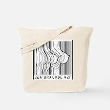 Bar Code Bra Code Tote Bag