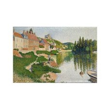 Cute Post impressionist Rectangle Magnet (10 pack)