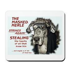 N Masked Merle Mousepad