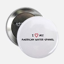 I Love American Water Spaniel Button