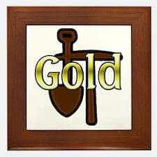 Gold Digger Framed Tile