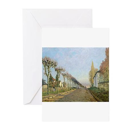 Rue de la Machine, Louveciennes by Alfred Sisley G
