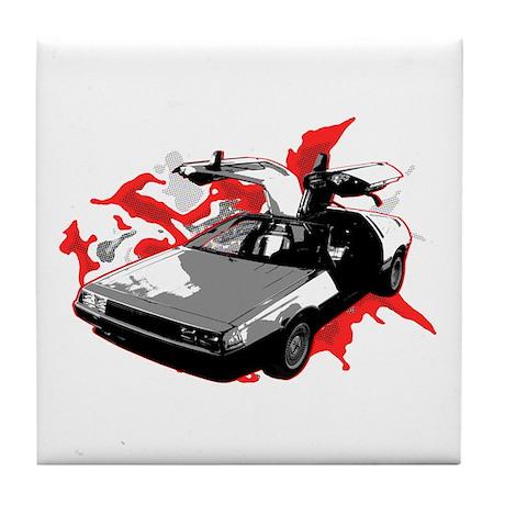 DeLorean Tile Coaster