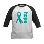 Hope Ovarian Cancer Kids Baseball Jersey