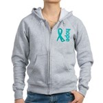 Hope Ovarian Cancer Women's Zip Hoodie