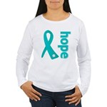 Hope Ovarian Cancer Women's Long Sleeve T-Shirt
