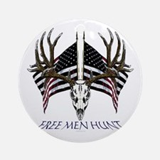 Free men hunt Ornament (Round)