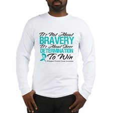 Bravery Ovarian Cancer Long Sleeve T-Shirt
