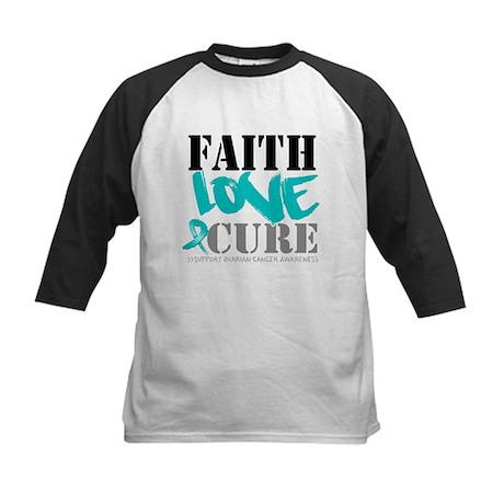 Faith Cure Ovarian Cancer Kids Baseball Jersey