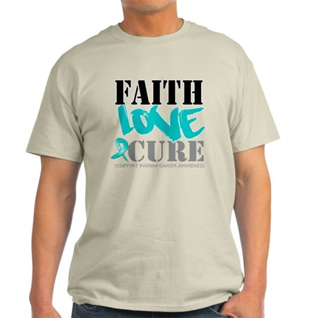Faith Cure Ovarian Cancer Light T-Shirt