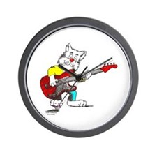 Catoons™ Bass Guitar Cat Wall Clock