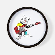 Catoons™ Bass Guitar Cat Wall Clock