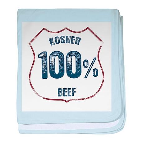 100% Kosher Beef baby blanket