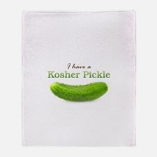 I have a Kosher Pickle Throw Blanket