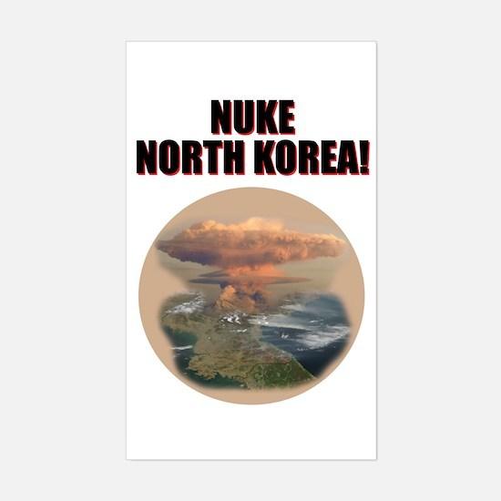 Unique North korea Sticker (Rectangle)