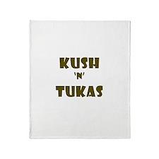 Kush 'n' Tukas - Yiddish Throw Blanket