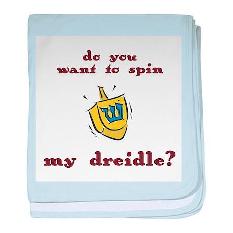 Jewish - Spin my Dreidle? - baby blanket