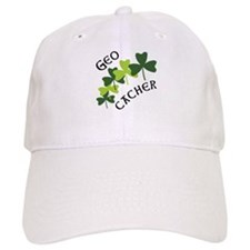 Geocacher Shamrocks Baseball Cap
