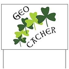 Geocacher Shamrocks Yard Sign