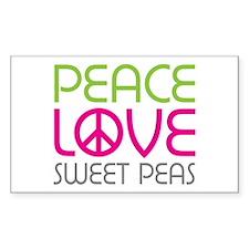 Peace Love Sweet Peas Decal