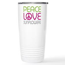 Peace Love Sunflowers Travel Mug