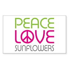 Peace Love Sunflowers Decal