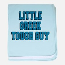 Little Greek Tough Guy baby blanket