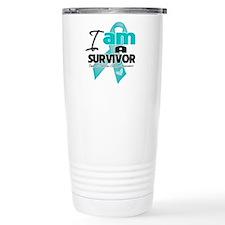 I'm a Survivor Ovarian Cancer Travel Mug