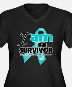 I'm a Survivor Ovarian Cancer Women's Plus Size V-