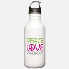 Peace Love Snapdragons Water Bottle