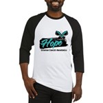 Hope Butterfly Ovarian Cancer Baseball Jersey