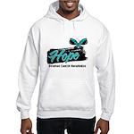 Hope Butterfly Ovarian Cancer Hooded Sweatshirt