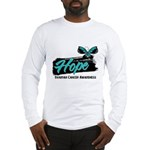 Hope Butterfly Ovarian Cancer Long Sleeve T-Shirt