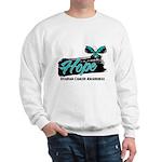 Hope Butterfly Ovarian Cancer Sweatshirt