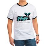 Hope Butterfly Ovarian Cancer Ringer T