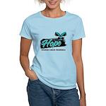 Hope Butterfly Ovarian Cancer Women's Light T-Shir