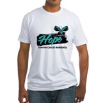 Hope Butterfly Ovarian Cancer Fitted T-Shirt