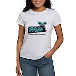 Hope Butterfly Ovarian Cancer Women's T-Shirt