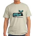 Hope Butterfly Ovarian Cancer Light T-Shirt