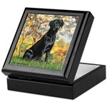 Spring & Black Lab Keepsake Box