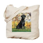 Spring & Black Lab Tote Bag