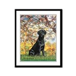 Spring & Black Lab Framed Panel Print