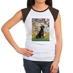 Spring & Black Lab Women's Cap Sleeve T-Shirt