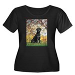Spring & Black Lab Women's Plus Size Scoop Neck Da