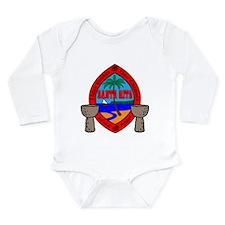 Guam Seal Long Sleeve Infant Bodysuit